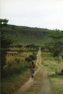 African Woman on Road