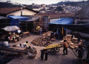 Guatemalan Market from Above
