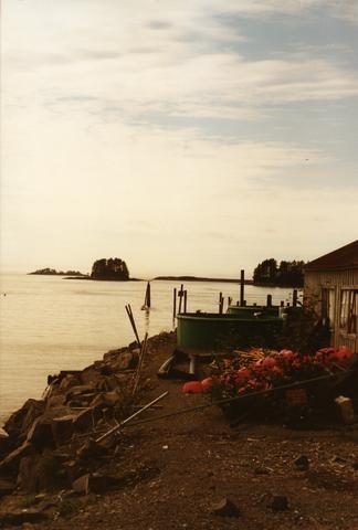 Alaska Houses on the shore 02480