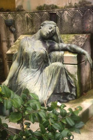 Italian Cemetary Statue480
